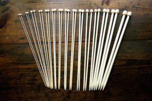 Bamboe breinaalden 23cm