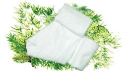 Bamboe handdoek - off white / roomwit