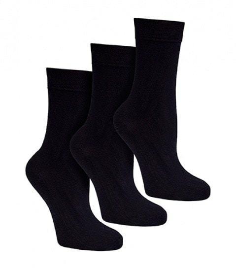 bamboe sokken zwart - S31