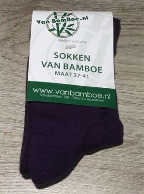 Bamboe sokken maat 37-41 paars - S35
