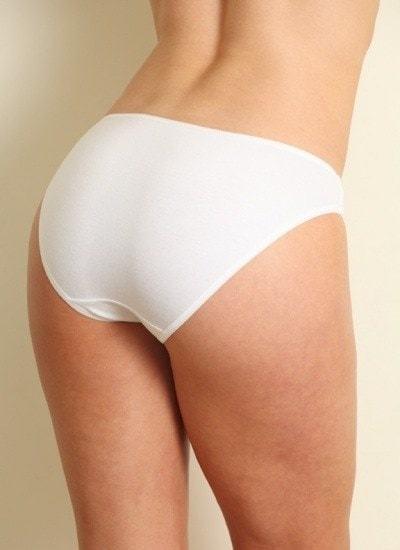 Bamboe dames bikinislip wit - 2x