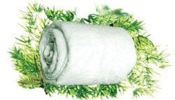 Bamboe badhanddoek - off white