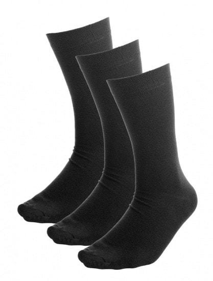 Bamboe sokken zwart 5x - S15