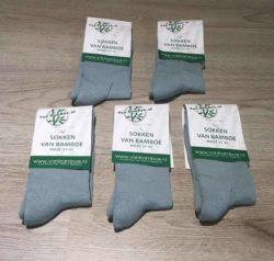 Bamboe sokken maat 37-41 lichtblauw 5x - S32