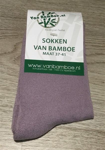 Bamboe sokken maat 37-41 lila - S37