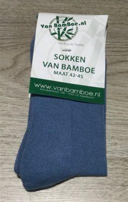 bamboe sokken RAF blue - S17