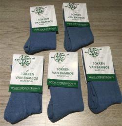 Bamboe sokken RAF blue 5 paar - S17