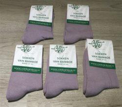 Bamboe sokken maat 37-41 lila 5x - S37