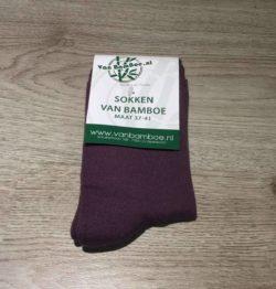Bamboe sokken maat 37-41 plum - S41