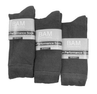 Bamboe sokken grijs 3 paar - S12