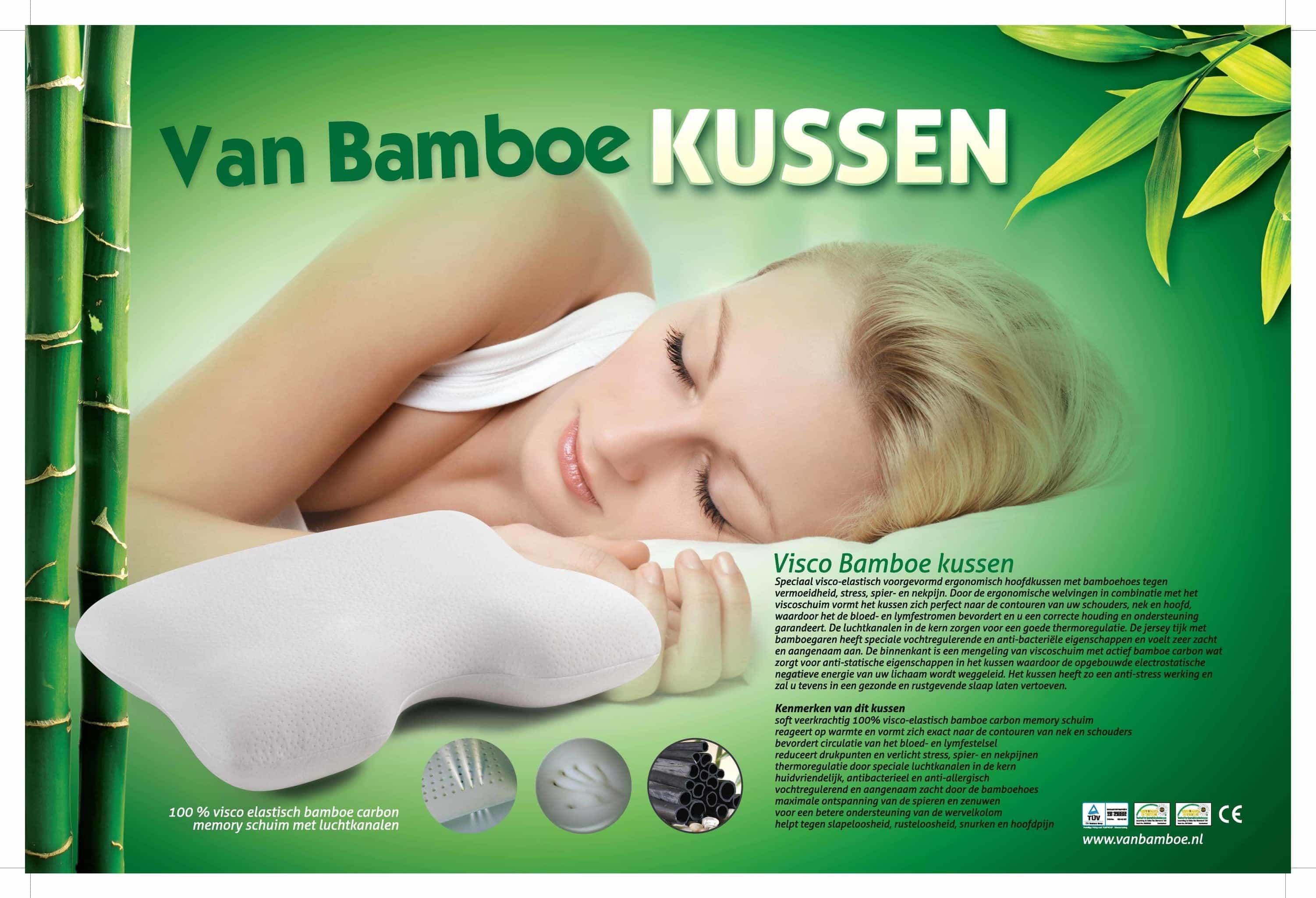 Bamboe Kussen Ervaringen : Bamboe ergonomisch hoofdkussen u van bamboe