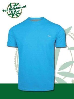 Bamboe heren t-shirt malibu blue