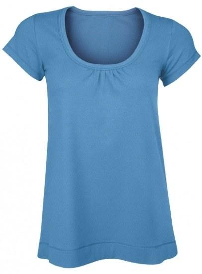 Bamboe wijdvallend t-shirt air force blue