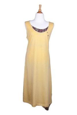 Bamboe jurkje geel - SS 4534