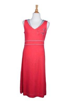 Bamboe jurkje oranje/roze - SS 4635