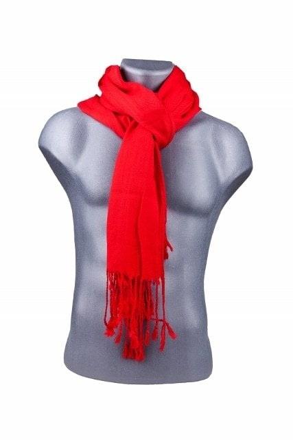 Bamboe sjaal rood
