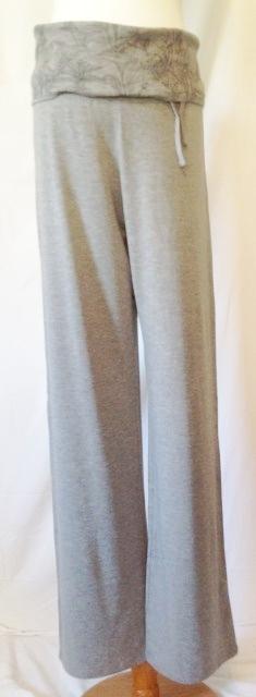 Bamboe broek grijs bewerkt - 6012