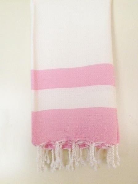 Bamboe hamamdoek/pestemal - Pink