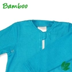 Bamboe babyslaapzak lente/herfst - aqua S