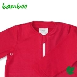Bamboe babyslaapzak lente/herfst - rood S