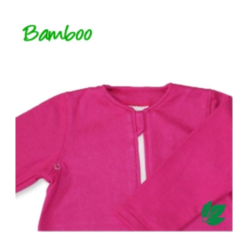 Bamboe babyslaapzak lente/herfst - fuchsia S