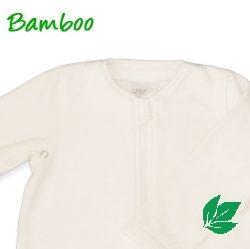 Bamboe babyslaapzak lente/herfst - off white L