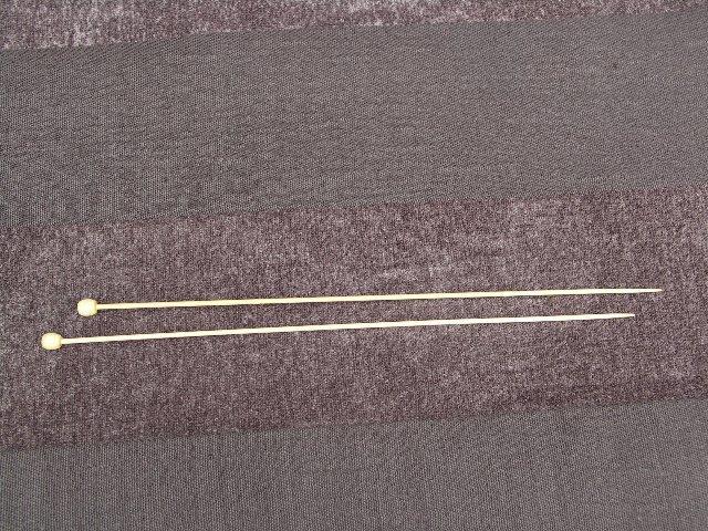 Bamboe breinaalden 34cm 5mm