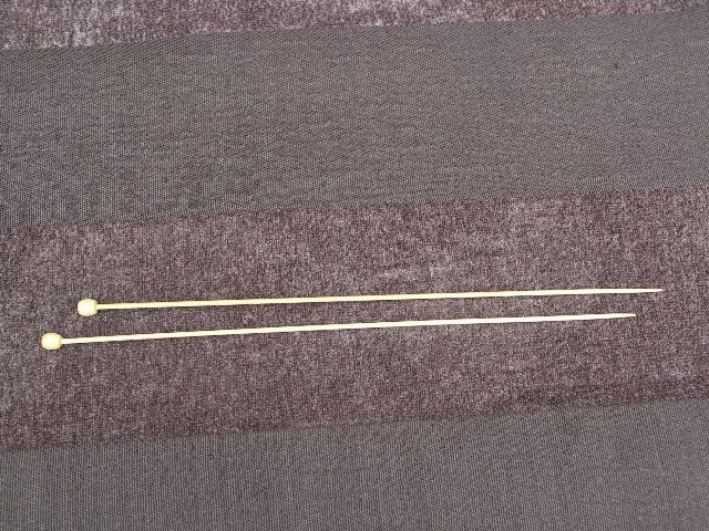 Bamboe breinaalden 45cm 12mm