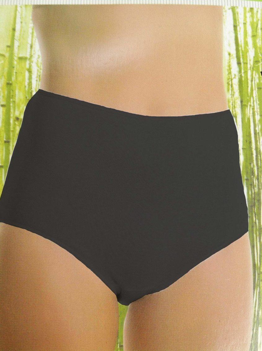 Bamboe dames hoge slip zwart