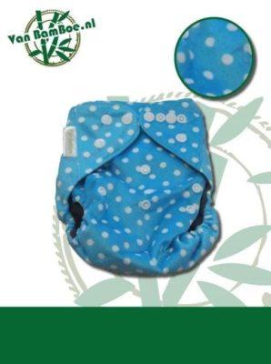 Bamboe luier - blauw met stipjes