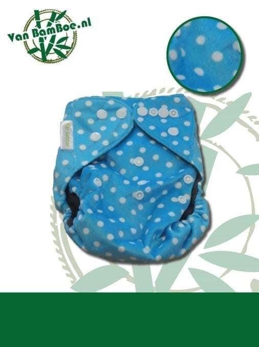 Bamboe zwemluier - blauw met stipjes