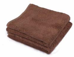 Bamboe handdoek bruin 50x100cm