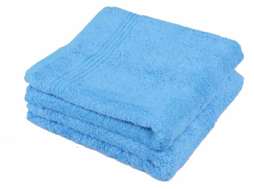 Bamboe handdoek blauw 50x100cm
