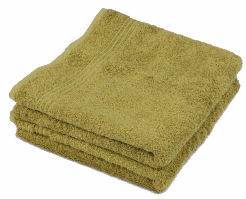 Bamboe handdoek groen 50x100cm