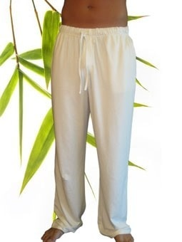Bamboe Heren yoga/lounge broek off white