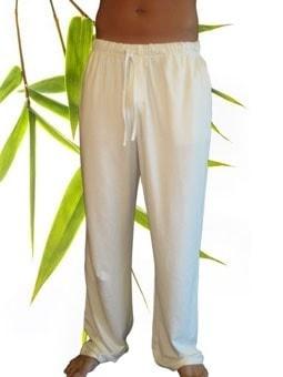 Bamboe Heren yoga/lounge broek off white