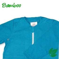 Bamboe baby zomerslaapzak - aqua S