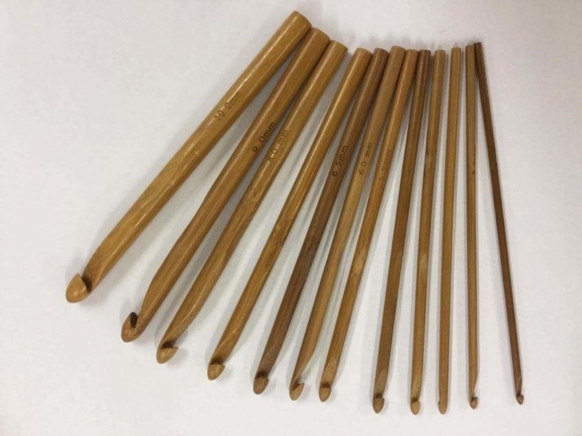 Bamboe haaknaalden set - 12 stuks