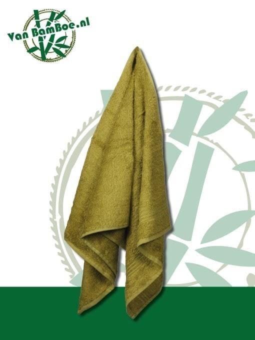 Bamboe badhanddoek groen 70x140cm