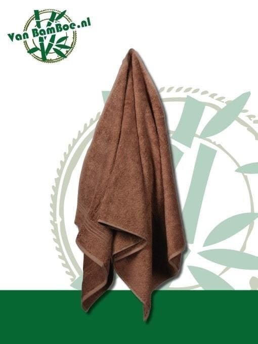 Bamboe badhanddoek bruin 70x140cm