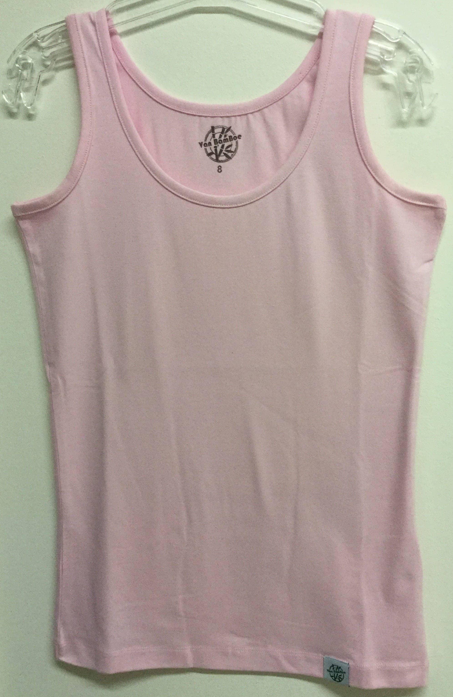 Bamboe dames hemd/singlet - roze quartz