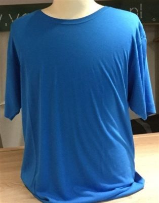 Bamboe heren t-shirt elec.blue