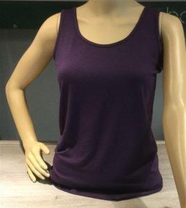 Bamboe dames hemd/singlet - paars