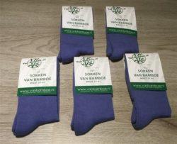 Bamboe sokken maat 37-41 jeansblauw 5x - S38