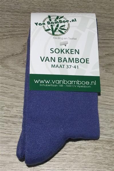 Bamboe sokken maat 37-41 jeansblauw - S38