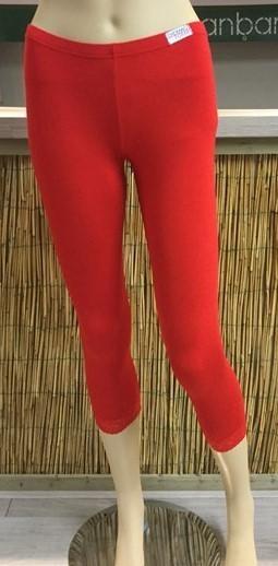 Bamboe capri legging rood