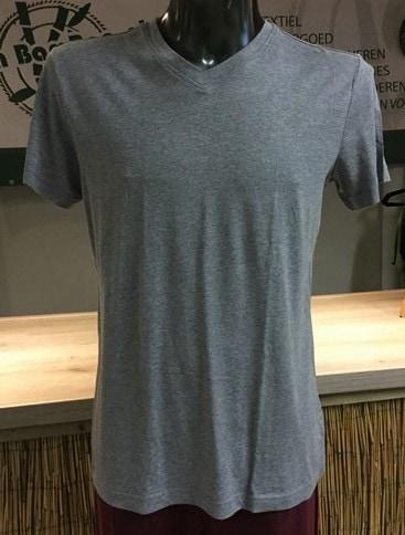 Bamboe heren t-shirt V-hals grijs