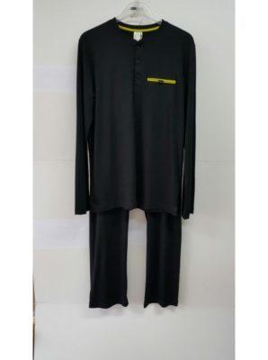 Bamboe heren pyjama - zwart
