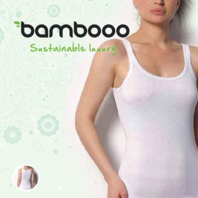 Bamboe dames singlet wit