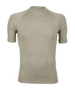Bamboe shirt ronde hals sporters kaki -0